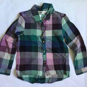 H&M Girls Plaid Button-down Shirt